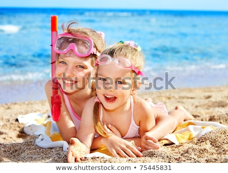 a set of children and beach activities stock photo © bluering