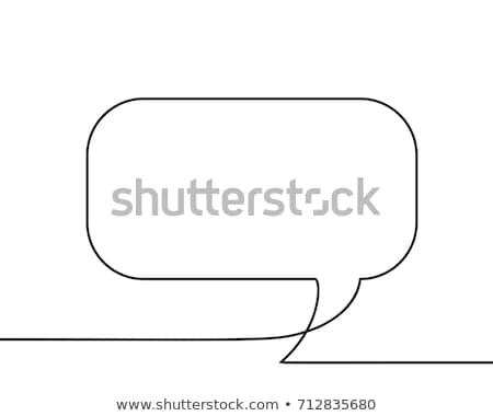 Négyszögletes firka vonal művészet keret vektor Stock fotó © robuart