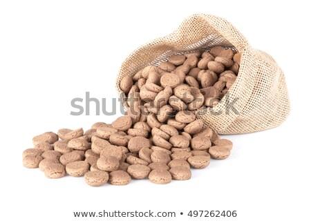 Zak typisch nederlands snoep gember noten Stockfoto © Melnyk