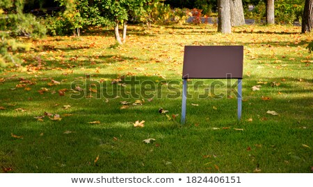 Removed traffic signs in park Stock photo © simply