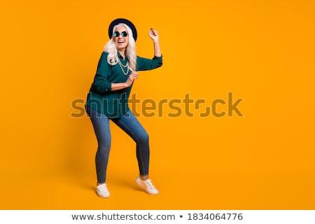 green shirt old women_travel Stock photo © toyotoyo