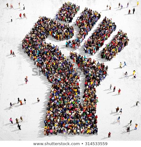 Emberek erő diverzitás inspiráció társasági mozgás Stock fotó © Lightsource