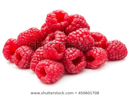 closeup heap of raspberries stock photo © dash