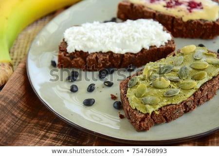 Abóbora sementes fotografia comida vintage foto Foto stock © Peteer