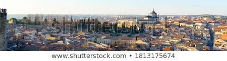 Panoramique vue médiévale centre ville Espagne Photo stock © asturianu