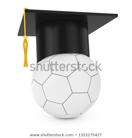 Graduation cap on football 3D Stock photo © djmilic