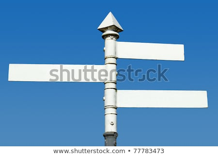 old fashioned english 3 way blank direction signpost stock photo © latent