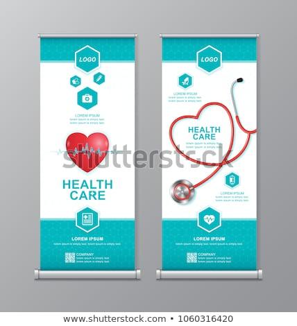 Tıbbi afiş soyut bilim örnek Stok fotoğraf © alexaldo