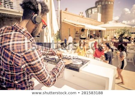 dj mixing console at summer party stock photo © kzenon