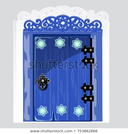 вход синий двери структур снежинка Сток-фото © Lady-Luck