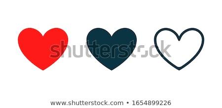 vettore · raccolta · rosso · cuore · forme · isolato - foto d'archivio © colematt
