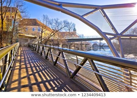 ville · Graz · rivière · bord · de · l'eau · vue · région - photo stock © xbrchx