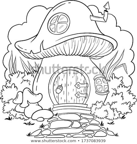 boek · champignon · huizen · bloemen · landschap · gestileerde - stockfoto © liolle