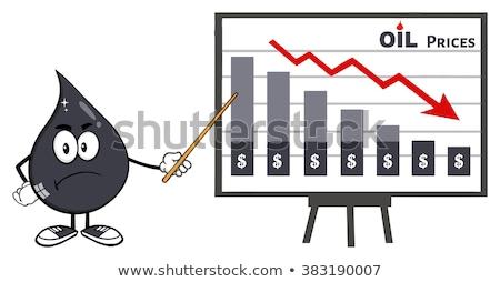 Zły ropa naftowa oleju spadek wskazując Zdjęcia stock © hittoon