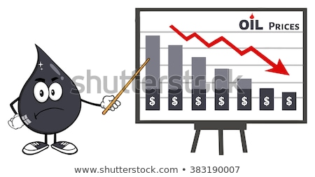 kőolaj · olaj · csepp · rajzfilmfigura · mutat · tart - stock fotó © hittoon