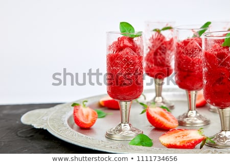 Estate fragola sorbetto bere Foto d'archivio © Illia