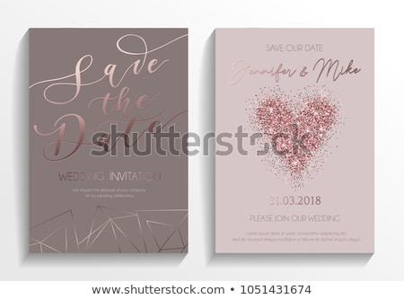 Mettre date invitation de mariage carte modèle mariage Photo stock © SArts