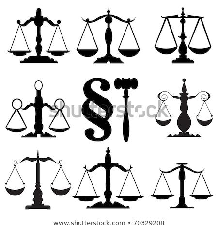 ölçek hukuk ikon stilize vektör dizayn Stok fotoğraf © blaskorizov