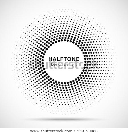 黒 · 抽象的な · ベクトル · 広場 · フレーム · ハーフトーン - ストックフォト © kyryloff