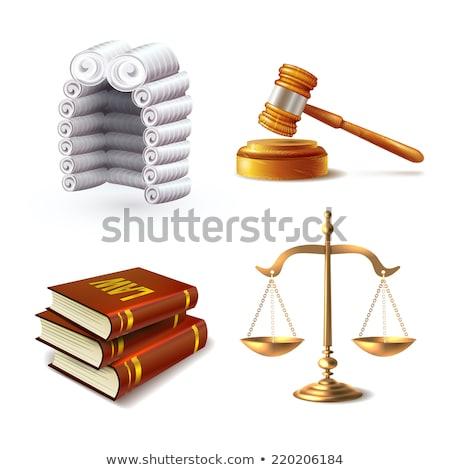 Photo stock: Juge · perruque · échelles · justice · pop · art · rétro