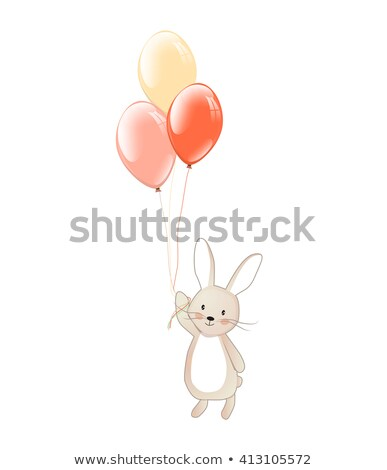 Easter bunny with balloons image 3 Stock photo © clairev