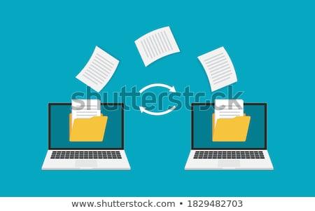 разделение документы данные передача компьютер ноутбука Сток-фото © cifotart