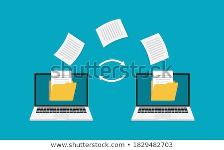Сток-фото: Sharing And Transferring Documents And Data