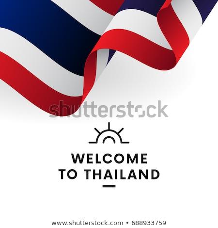 Tailândia · bandeira · branco · mundo · pintar · assinar - foto stock © colematt