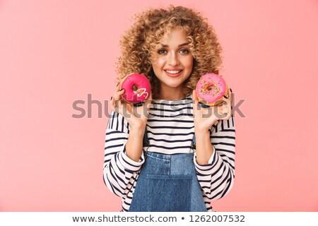 Fotó báj fürtös nő 20-as évek visel Stock fotó © deandrobot