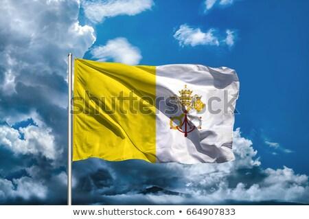 バチカン市国 フラグ 孤立した 白 レンダー ストックフォト © daboost
