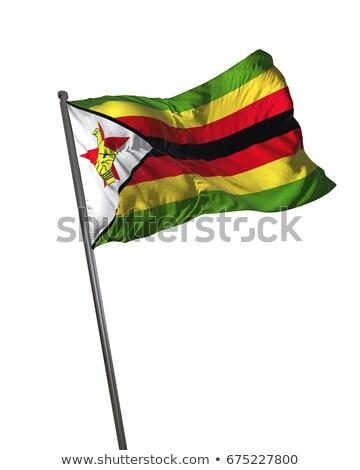ジンバブエ フラグ 孤立した 白 レンダー ストックフォト © daboost