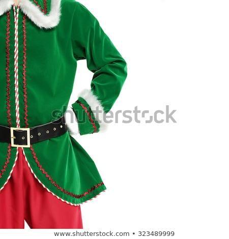 christmas · chłopca · dziewczyna · cute · mały · kostiumy - zdjęcia stock © colematt