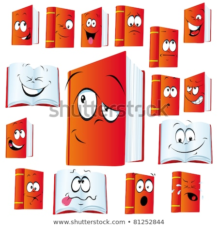 Books and binder with happy face Stock photo © colematt