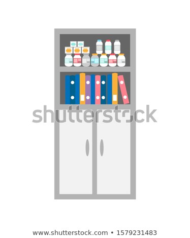Chest of Drawers, Bookcase with Medicaments Icon Stock photo © robuart