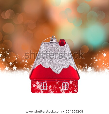 house gift, real estate. in the festive tape Stock photo © studiostoks