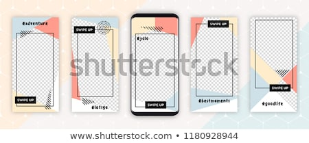 Editable Template For Social Networks Stories Template Stock photo © cammep