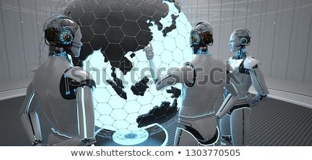 Robot mondo Cina punto illustrazione 3d Foto d'archivio © limbi007