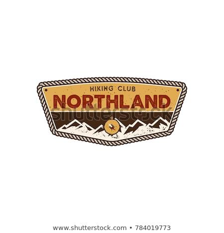 Color vintage summer camp emblem Stock photo © netkov1