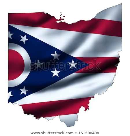 Integet zászló Ohio összes elemek rétegek Stock fotó © nazlisart