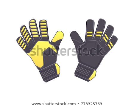Футбол вратарь перчатки икона шаблон дизайна Сток-фото © angelp