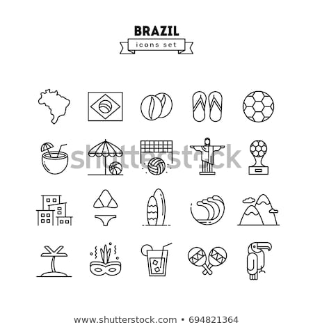 Brazil icon set Stok fotoğraf © netkov1