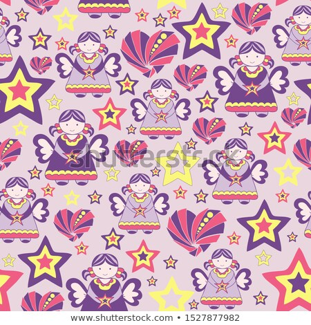 Gift Seamless Pattern Vector. Birthday, Christmas Holiday Party. Package Cover. Cute Graphic Texture Stock photo © pikepicture