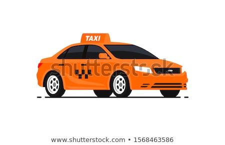 żółty taksówką samochody 3d ilustracji ulicy miasta samochodu Zdjęcia stock © reticent