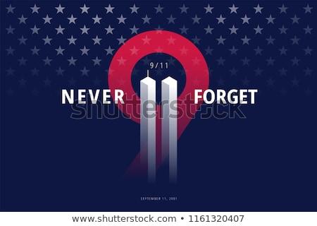 Patriote jour bannière 11 septembre USA pavillon Photo stock © sanyal