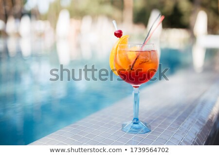 Cocktail near the swimming pool Stock photo © cookelma