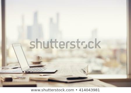 iroda · munkahely · asztal · jelentések · jelentés · oldal - stock fotó © karandaev