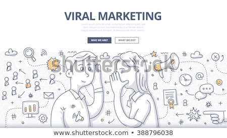 Viral marketing linear texto seta caderno Foto stock © Mazirama