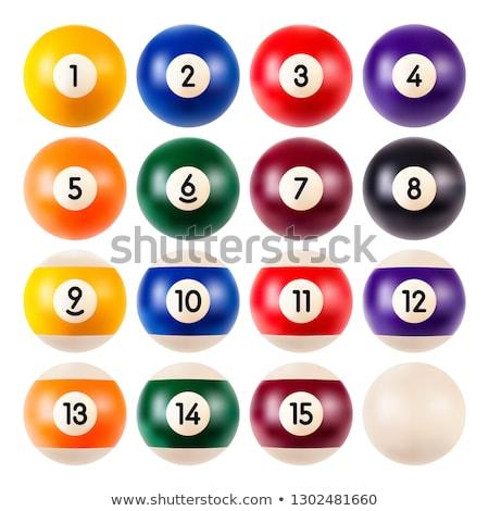 Snooker bilardo sayılar ayarlamak vektör Stok fotoğraf © pikepicture
