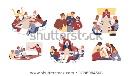 annoyed stressful screaming characters set vector stock photo © pikepicture