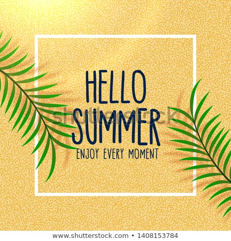 hello summer lovely beach background with leaves shade Stock photo © SArts
